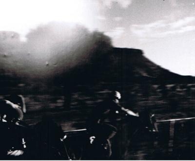 Photograph - horse race; 9171