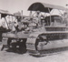 Photograph -  H S and Co's tractor, International D7, on Maneroo. ; Kitchen, HD; 1949 - 1950; 17479