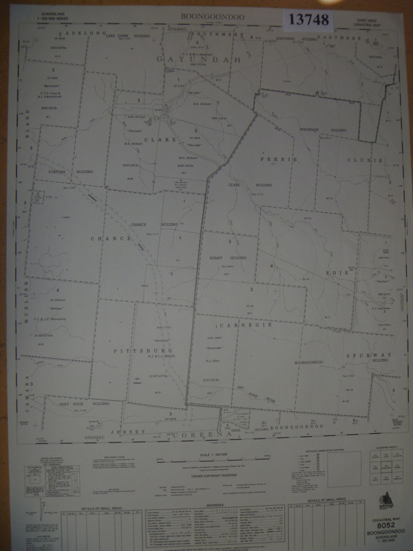 Cadastral Surveying And Mapping : Maps cadastral map boongoondoo queensland