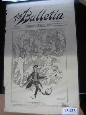 "Front page of ""The Bulletin""; The Bulletin; 1899; 13423"