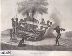 Etching: Funeral Ceremonies - Burning a Corpse. ; Cadell & Davies.; 1798; 14149