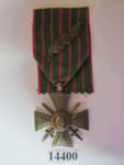 Object - Croix de Guerre medal with bronze palm on ribbon for bravery ; Bartholomé, Paul-Albert; 1914 - 1918; 14400