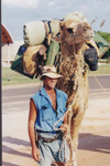 Photograph - Man with camel at the Stockman's Hall of Fame. ; 1998; 17773