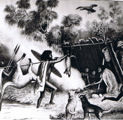 Aborigines of Australia - Returning from a Hunt; 8703