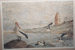 Photograph: Painting - Pelicans on the beach. ; 1995; 19442