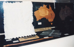Photograph: Painting - Leather map of Australia. ; 1995; 19443