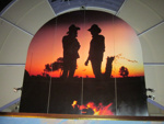 Large Photograph - Silhouette of two ringers. ; 1988?; 14354