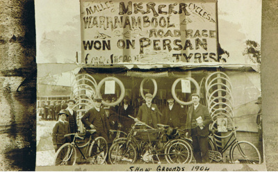 Warracknabeal Show 1904. Mercer Cycle Display ; 7846