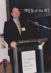 Photograph - Dr Graeme Potter at the Dame Mary Durack Outback Art and Craft Awards.  ; Exposure Photographers; 2003; 19188