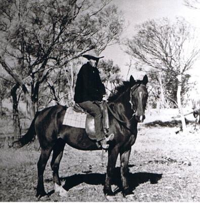 Photograph - Scotty Watson on horseback.; 9113