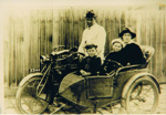 Photograph - Motorbike and cane side car.; 1918; 5696