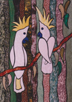 Photograph - Painting of two cockatoos entered in the Dame Mary Durack Outback Art and Craft Awards. ; Exposure Photographers; 2003; 19174