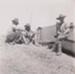 "Photograph - Staff enjoying ""Smoko"" while installing fluming at roving LAD tank on Maneroo. ; Kitchen, HD; 1949 - 1950; 17485"