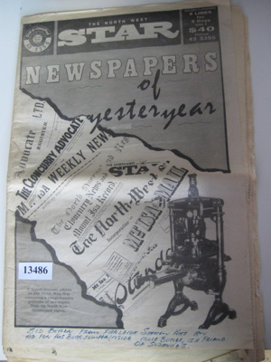 Newspaper - The North West Star.; The North West Star; 1967; 13486