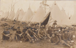 Photograph - Military Soldiers Light Horse Camp; 1917?; 14278