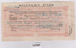 Object - Patrick McMahon's AIF Special Leave Pass.  ; Australian Imperial Force; 1919; 14385