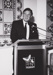 Photograph: Ken Cowley presenting at the Dame Mary Durack Outback Art and Crafts ; 1985?; 20301