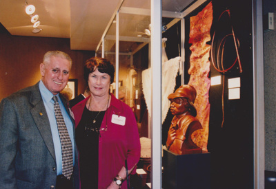 Photograph - Charlie Hassett and Neryl Robertson at the Dame Mary Durack Outback Art and Craft Awards.  ; Exposure Photographers; 2003; 19240