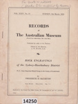 Book: Records of the Australian Museum: Rock engravings of the Sydney - Hawkesbury District. ; McCarthy, F D, Evans J W; 1959; 14250