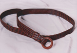 Photograph - Plaited leather belt entered in the Dame Mary Durack Outback Art and Craft Awards. ; Exposure Photographers; 2003; 19170
