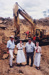 Photograph - Bernie George, Julie Bishop, Ranald Chandler and Karen Nelson with Earth moving Equipment, HOF Dam Construction. ; Osbourne, Brian; 1993; 16071