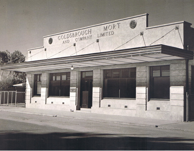 Photograph - The Goldsbrough Mort and Co Ltd Building in Todd Street, Tennant Creek.; 1949; 13177