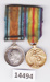 Object -Miniature British War and Victory medals awarded to J M Currans. ; After 1919; IMG_14494A.jpg: Obverse
