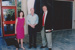 Photograph: ASHOF visitors Kim Beasley and Susie Annus with CEO Peter Andrews. ; 1998?; 20208