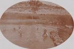 Photograph - 3rd light horse soldiers having a swim. ; 1917; 14281