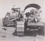 Photograph -  H S and Co's tractor and 7 yard cable scoop on Maneroo. ; Kitchen, HD; 1949 - 1950; 17480