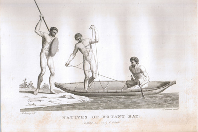 Title -  Etching of Natives of Botany Bay.; Medland. T; 1789; 13208