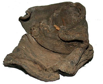 Baby's shoe; Circa 17th Century; CG7.a