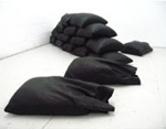 Simona Brinkmann, Fort Worth, 2006, leather, sand; Simona Brinkmann