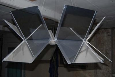 Gabriel Birch, Untitled (Beacon), 2008, glass, two way mirror film, metal, H 120cm x W 100cm x D 100cm; Gabriel Birch
