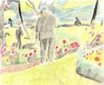 Man in garden; JMP 363