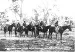 North Queensland Native Police Troopers escorting indigenous murderers; 1899; PM0938