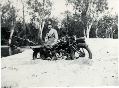 Constable Harold Sjostedt, Main Roads Police; 1933; PM0697