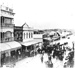 A flooded Stanley Street, South Brisbane during Brisbane floods.; 1890; PM0627