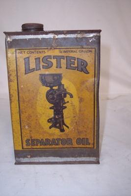 Oil Tin; Lister; 2010.1.84