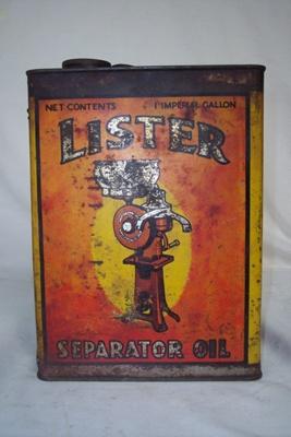 Oil Tin; Lister; 2010.1.81