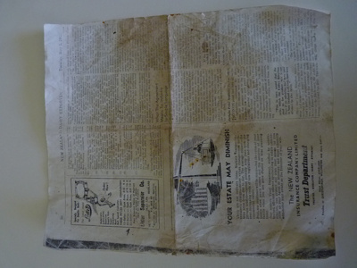 Advertisement from newspaper - 1 page; N/A; 1945; 2010.1.6