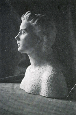 Portrait bust; Molly Macalister; 1939 - 1940; 61 (Cat. no. A1)