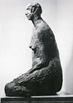 Seated figure; Molly Macalister; 1958; 72 (A12 in catalogue)