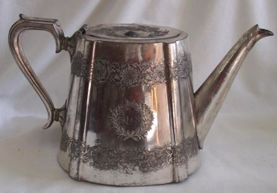 Teapot; Cooper Brothers, Sheffield England c.1890; c.1890; QS2007.9