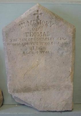 "Headstone ""Thomas Convoy""; 1878; QS2007.30"