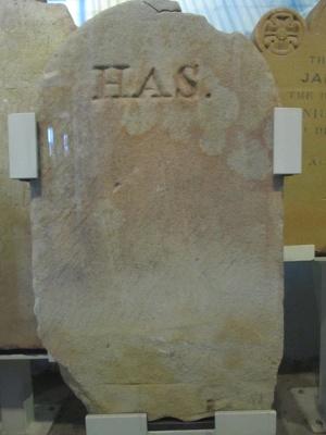 """Headstone """"H.A.S.""""; QS2007.38"""