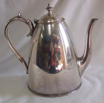 Coffee pot; Elkington and Company, Sydney; 1887; QS2007.10.1-2