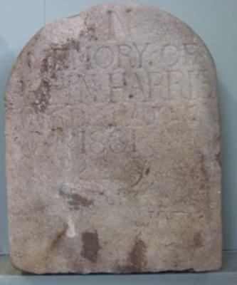 "Headstone ""John Harris""; 1881; QS2007.39"