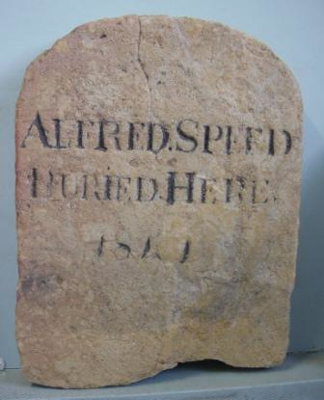 """Headstone """"Alfred Speed""""; 1841; QS2007.33"""