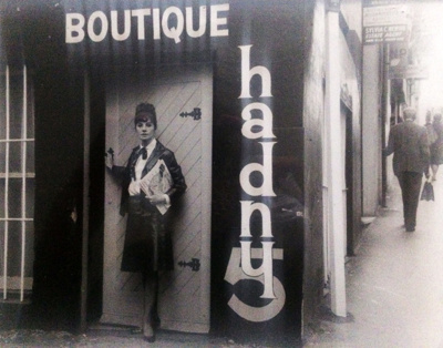 Outside of Hadny 5 with Owner and Designer, Isabel Hadworth; Unknown; Circa 1964